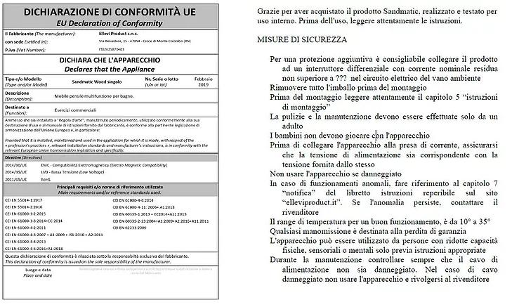 Dichiarazione Conformità UE